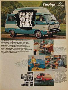 1968 Dodge Tradesman Van Vintage Ad,