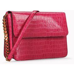 Stella Mccartney Moc Croc Grace Bag ($1,330) ❤ liked on Polyvore