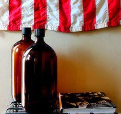 1940's Apothecary Brown Gallon Bottles by PositiveSpaceDesigns, $55.00