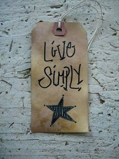 Primitive Country Tag For Gifting Or Just For Fun. Age New Tags With Tea,  Let Dry, And Decorate With Marker.