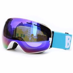 North Wolf Snow Goggles Large Size Cycling Glasses Lenses Anti Fog Red