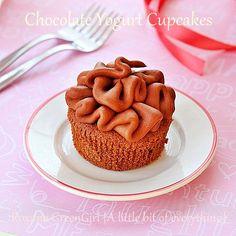 Chocolate Chobani Cupcakes