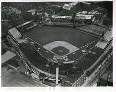 Crosley Field (1912-1970) - let's do a Saturday flyby in Cincinnati of one of the great old and classic ballparks that should never be forgotten.Not only was Crosley Field home to the Reds for 59 years but also the Negro League teams Cincinnati Tigers (1937), Cincinnati Buckeyes (1942) and the Cincinnati Clowns (1943-1945). It also hosted the original Cincinnati Bengals during the 1930s and 1940s in the American Football League.  -RB