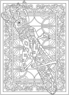 Welcome to Dover Publications  Creative Haven Incredible Insect Designs Coloring Book