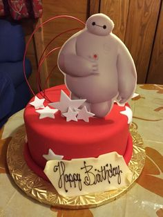 Here's the awesome #Baymax cake that @WaltDisneyWorld private dining made for us! Love their events team!!! #BigHero6