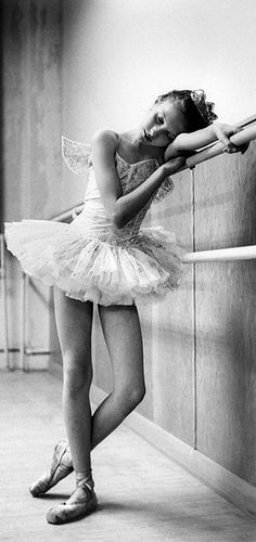 suicideblonde:  Patricia Craig at barre, Children's Ballet Company, 1953 (by Bob Willoughby)
