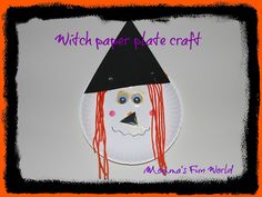 Momma's Fun World: Witch paper plate craft