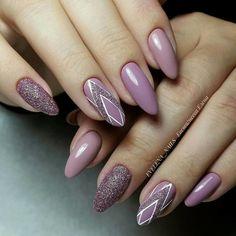 Pretty Natural Acrylic Oval Nails Design Ideas purple glitter Acrylic short oval nails design for summer nails, Cute natural oval nails for spring nails, Gel oval nails design acrylic Cute Nails, Pretty Nails, My Nails, Shellac Nails, Acrylic Nails, Beautiful Nail Art, Gorgeous Nails, Acrylic Nail Designs, Nail Art Designs