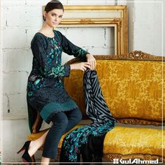 Women Winter Dresses By Gul Ahmed 2015-16