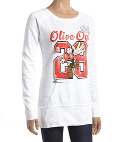 Another great find on #zulily! White 'Olive Oyl' Chloe Long-Sleeve Top - Women #zulilyfinds