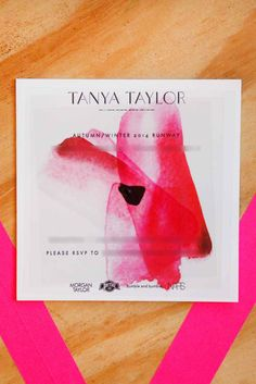 New York Fashion Week Designers - Invitations