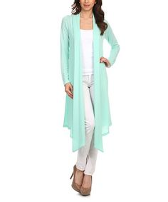 Look what I found on #zulily! Mint Open Duster #zulilyfinds