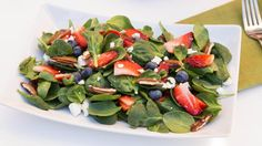 Berry Spinach Salad Recipe | Mom's Dish