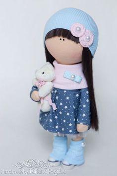muñecas de colección hechos a mano.  Masters Fair - hecho a mano.  Comprar muñeca Textil Poly.  Hecho a mano.  Textil jersey de muñeca