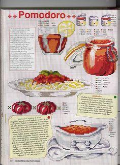Tomato spaghetti cross stitch