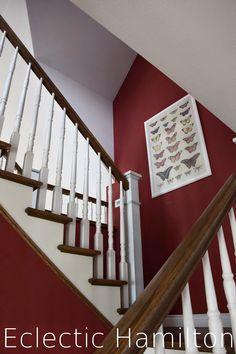 amerikanisches Treppenhaus Treppe Staketen Holztreppe staircase Hamilton