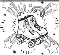 1000 Images About Skate Color Sheets On Pinterest Roller Skate Coloring Page