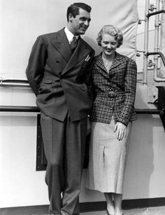 Cary Grant & Virginia Cherrill (his first wife). They were married from 1934-1935.