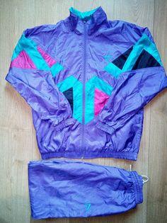 Puma 90's Vintage Mens Tracksuit Top Nylon Jacket Pants Rare #PUMA #TracksuitsSweats