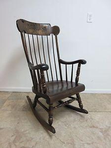 Ethan Allen Boston Whaler Pine Rocker Rocking Chair