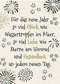 New Year& greetings New Year Greeting Cards, New Year Greetings, Xmas Cards, Diy Bullet Journal, Nouvel An Citation, German Quotes, New Year Wishes, True Words, Birthday Wishes