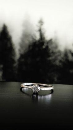 Minimal engagement ring, wedding ring, Cluj-Naopca, Transilvania, Romania, 2017