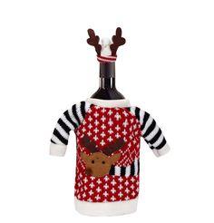 Merry Christmas & Red Wine Bottle Cover Bags Decoration Home Party Santa Claus Christmas artigos de natal Sunshine