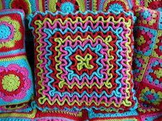 Вязание волнами, вязание крючком, вязание для дома, подушка своими руками