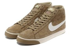 Cheap 371761-022 Nike Blazer MID camel white men running shoes