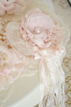 Beautiful Pink and Ivory Gillyflower Handmade by by Jenneliserose