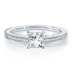 Renditions™ by HAROUT R™ 1/5 ct. tw. Diamond Semi-Mount Engagement Ring in 14K Gold available at #HelzbergDiamonds