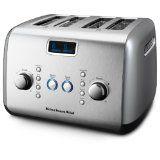 KitchenAid KMT423CU 4-Slice Toaster, Contour Silver