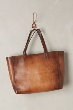 Leather Tote #anthrofave