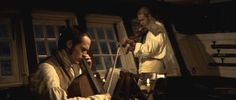 Master and Commander--jack Aubrey and Stephen Maturin tune up for a duetto.