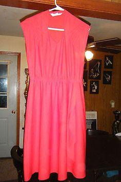 Vintage 1960s JC PENNY FASHIONS Women's size 9 Red Polyester DRESS   eBay