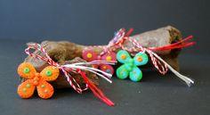 butterfly polymer clay, pink, martisoare handmade fluturi din fimo