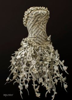 Fairytale Paper Dress Paper Sculpture by MalenaValcarcel on Etsy