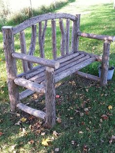 16 Creative and Rustic Garden DIYs Willow Furniture, Rustic Log Furniture, Diy Garden Furniture, Diy Garden Decor, Modern Furniture, Outdoor Projects, Garden Projects, Outdoor Decor, Rustic Gardens