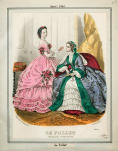 In the Swan's Shadow: Le Follet, April 1861  Civil War Era Fashion Plate