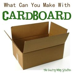 What Can You Make With Cardboard www.thecraftyblogstalker All with Tutorials!