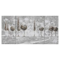 Found it at Wayfair - Topiary Landscape 3 Panel Canvas Art