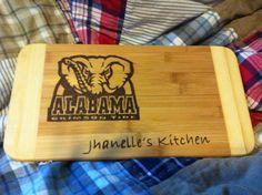 Alabama university cutting board  on Etsy, $22.00 CAD