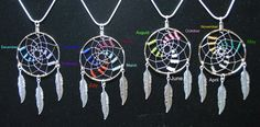 Silver Dream Catcher Necklace and Earrings made with Birthstone colors, Mother's Day gift, Native Americana, tribal by OriginalsByCathy on Etsy https://www.etsy.com/listing/274420322/silver-dream-catcher-necklace-and