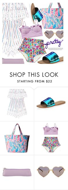 """Pretty"" by makeupgoddess ❤ liked on Polyvore featuring Miguelina, Loeffler Randall, Lilly Pulitzer, Undercover and Wildfox"