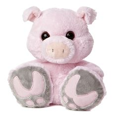 Snortster the Taddle Toes Pig Stuffed Animal by Aurora is ready to take some big steps with you! This plush pig has adorably oversized feet accented with velvety soft foot pads. This big-footed stuffed pig has a wide-eyed endearing expression Pet Pigs, Baby Pigs, Cute Piggies, This Little Piggy, Felt Animals, Dog Toys, Stuffed Animals, Stuffed Pig, Stuffed Toys