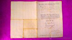 DOCUMENTO OFICIAL, CARGO SUPERIOR, REY FERNANDO VII, FCO JAVIER CASTAÑOS, JOAQUIN BLAKE 1810