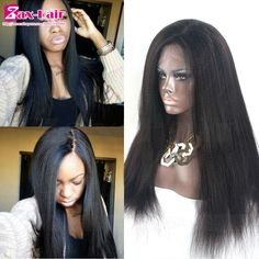 4*4 Silk top full lace wigs yaki straight silk top lace front wig 7A full lace human hair wigs 130% density wig for black women