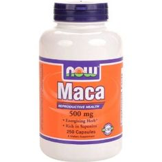 NOW Foods Maca 500mg -taking to balance my hormones, since starting it I've seen a great improvement with my hormonal cystic acne