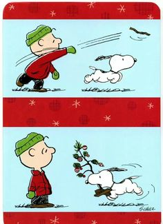 'Fetching the Christmas Tree', Snoopy & Charlie Brown Peanuts Christmas, Charlie Brown Christmas, Charlie Brown And Snoopy, Xmas, Christmas Tree, Vintage Christmas, Snoopy Love, Snoopy And Woodstock, Peanuts Cartoon
