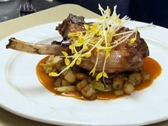 Brined Pork Chops with Apple Hash Recipe : Robert Irvine : Food Network - FoodNetwork.com